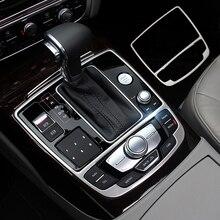 Per Audi A6 C7 A7 2012-2017 di Alta Qualità In Acciaio Inox Gear Shift Pannello Cornice Cornice Adesivi Decorativi