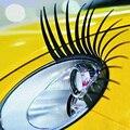 Free Shipping 2pcs 3D Charming Black False Eyelashes Fake Eye Lash Sticker Car Headlight Decoration Funny Decal For Beetle