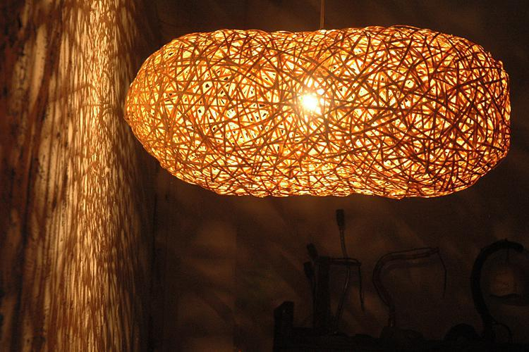 Bird S Nest Art Lighting Bamboo Weaving Droplight Pendant