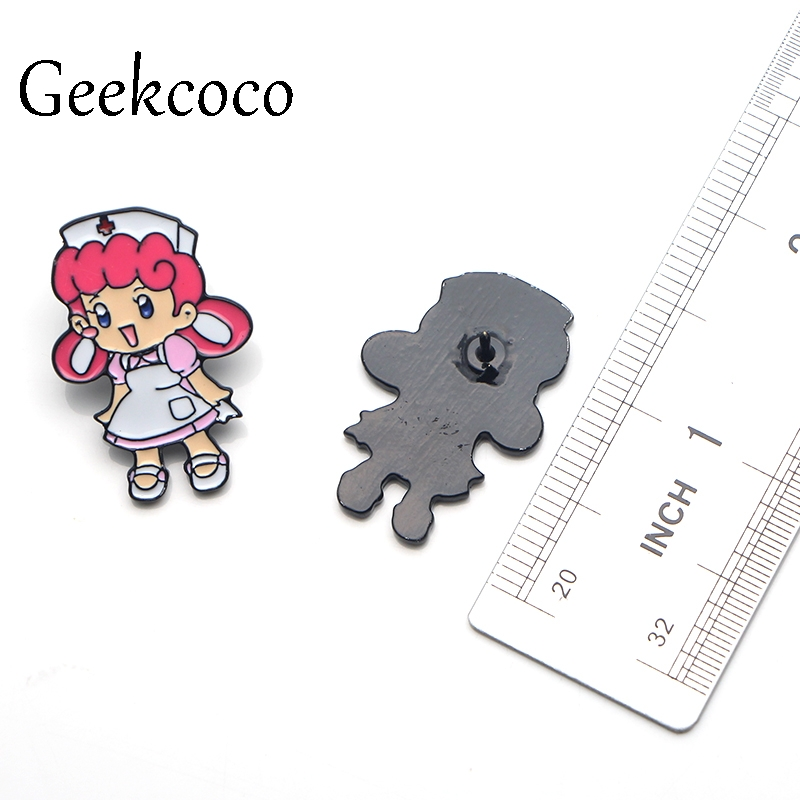 Nurse Joy DIY Brooches for women Pride Zinc Alloy Enamel Pin medal Cartoon Cute insignia shirt backpack clothes bag Badges J0044 in Brooches from Jewelry Accessories
