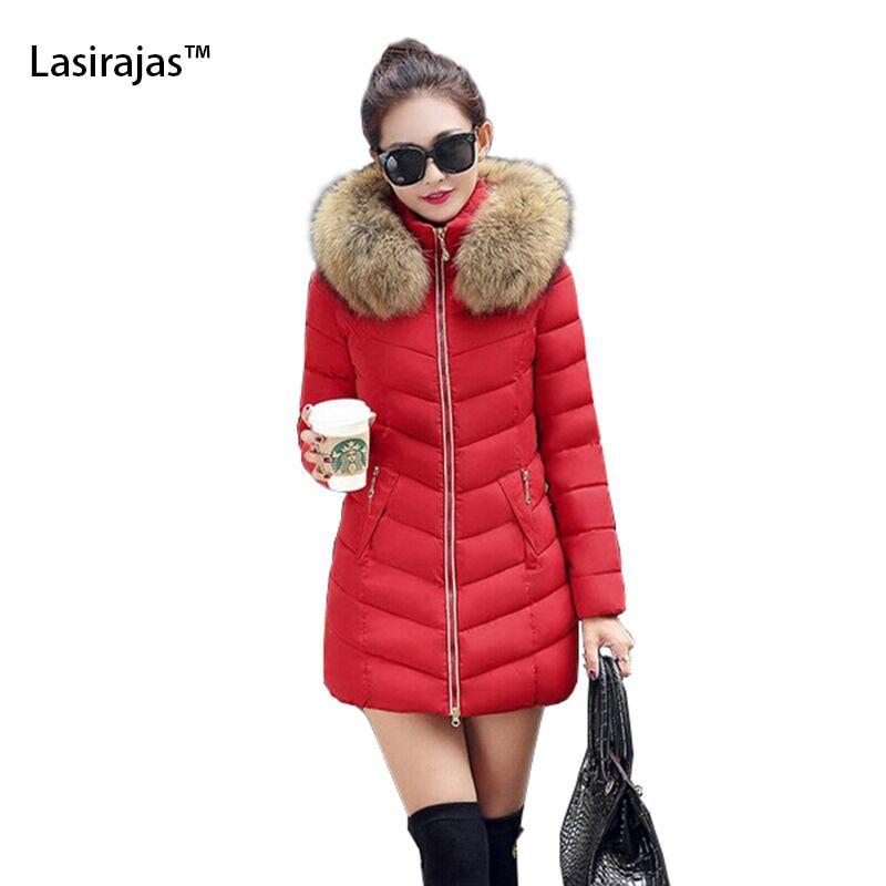 ФОТО 2016 Fashion Hot Warm Autumn Winter Jacket New Women Coat Thick Hoody Winter Coat Slim Women Parka Warm Womens Down Jacket