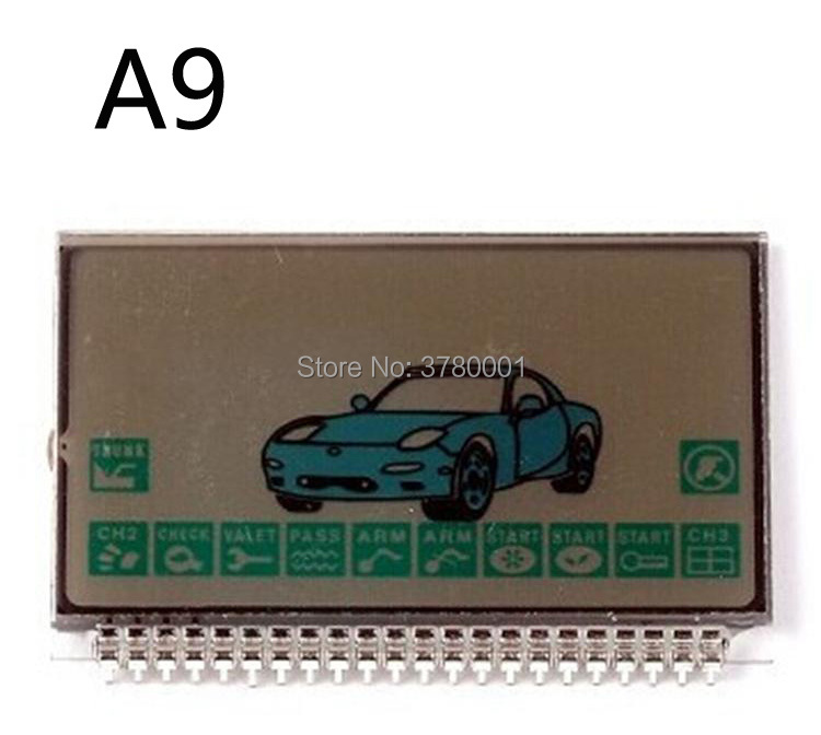 Wholesale A9 LCD Display For Russian Two Way Car Alarm System Starline A9 Lcd Remote Control Keychain Fob