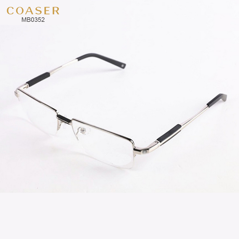new glasses wide spectacle men square metal eyeglasses frames reading glasses male myopia presbyopic prescription eyewear