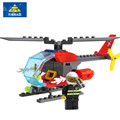 2016 Fire Helicopter Educational Building Blocks City Fireman  brinquedo Boy's Bricks Toys Christmas gifts