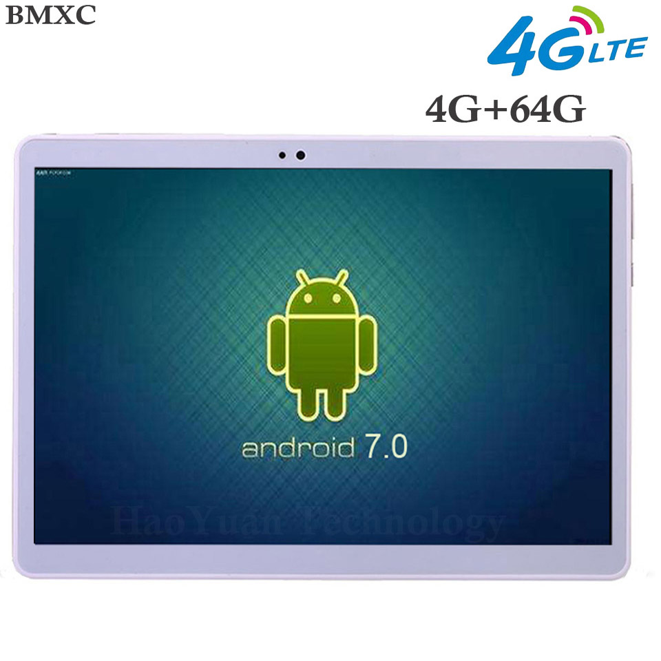 Brand Tablet 10 inch Original 3G/4G Call Phone tablet Android 7.0 Octa Core Tablet pc 10 WiFi GPS Bluetooth metal many color original 7 shockproof rugged waterproof tablet pc octa cores cell phone gnss gps 2 5 glonass lf uhf rfid android 4 2 zigbee nfc