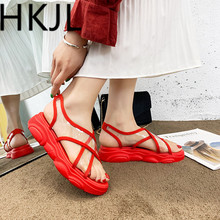 HKJL 2019 summer new sandals womens shoes Korean version of fashion minimalist sandal sponge bottom A512