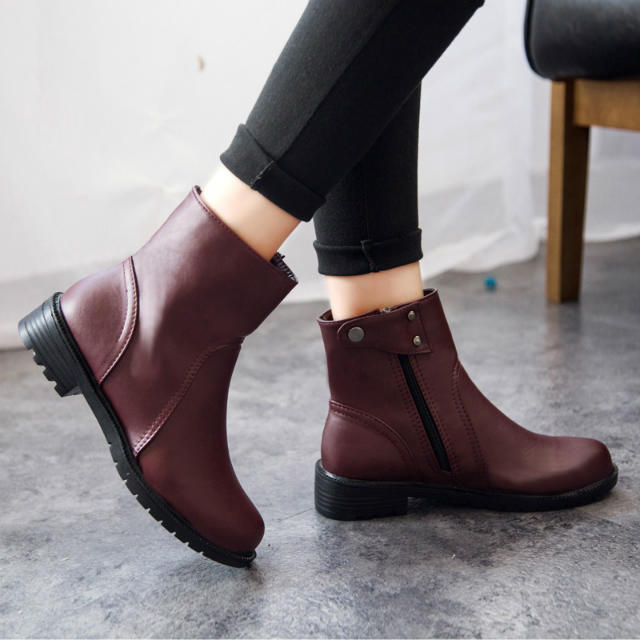 ad579c8d4 New 2015 Fashion Winter Sapatos Femininos Flat Shoes Waterproof Ankle Boots  Women Casual PU Leather Boots Zapatos Mujer-in Ankle Boots from Shoes on ...