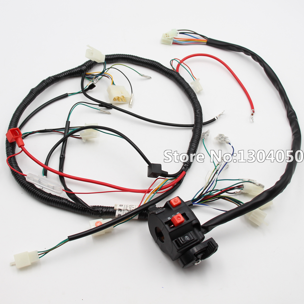 hight resolution of high quality complete electrics all wiring harness wire loom assembly for 4 stroke quad atv parts replacement repair work
