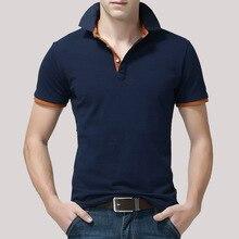 Mens Polo Shirt Cotton Short Sleeve shirts Summer Clothing 2019 Regular Solid Shirts Men Black top