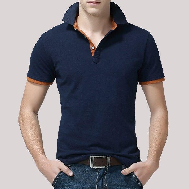 Mens   Polo   Shirt Cotton Short Sleeve Poloshirts Summer Mens Clothing 2019 Regular Solid   Polo   Shirts Men Black   Polos   4XL