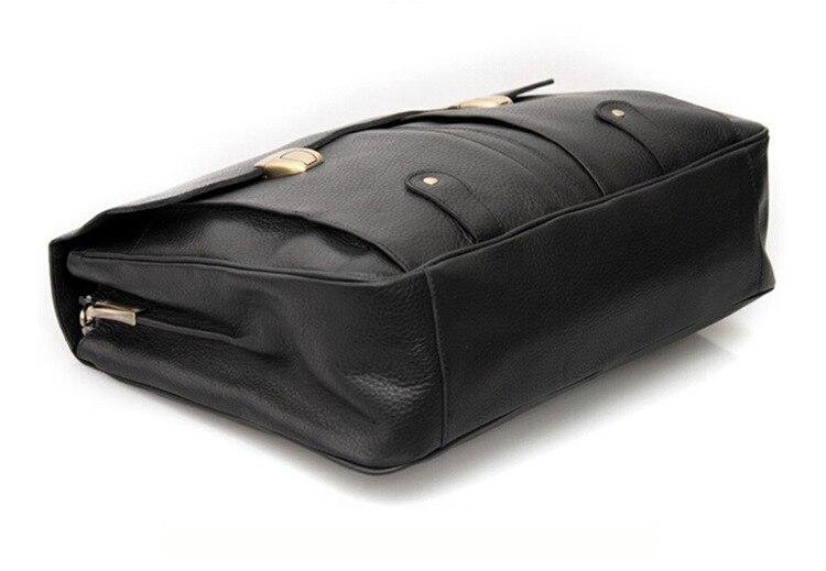 dos homens pasta de couro Material : Genuine Leather