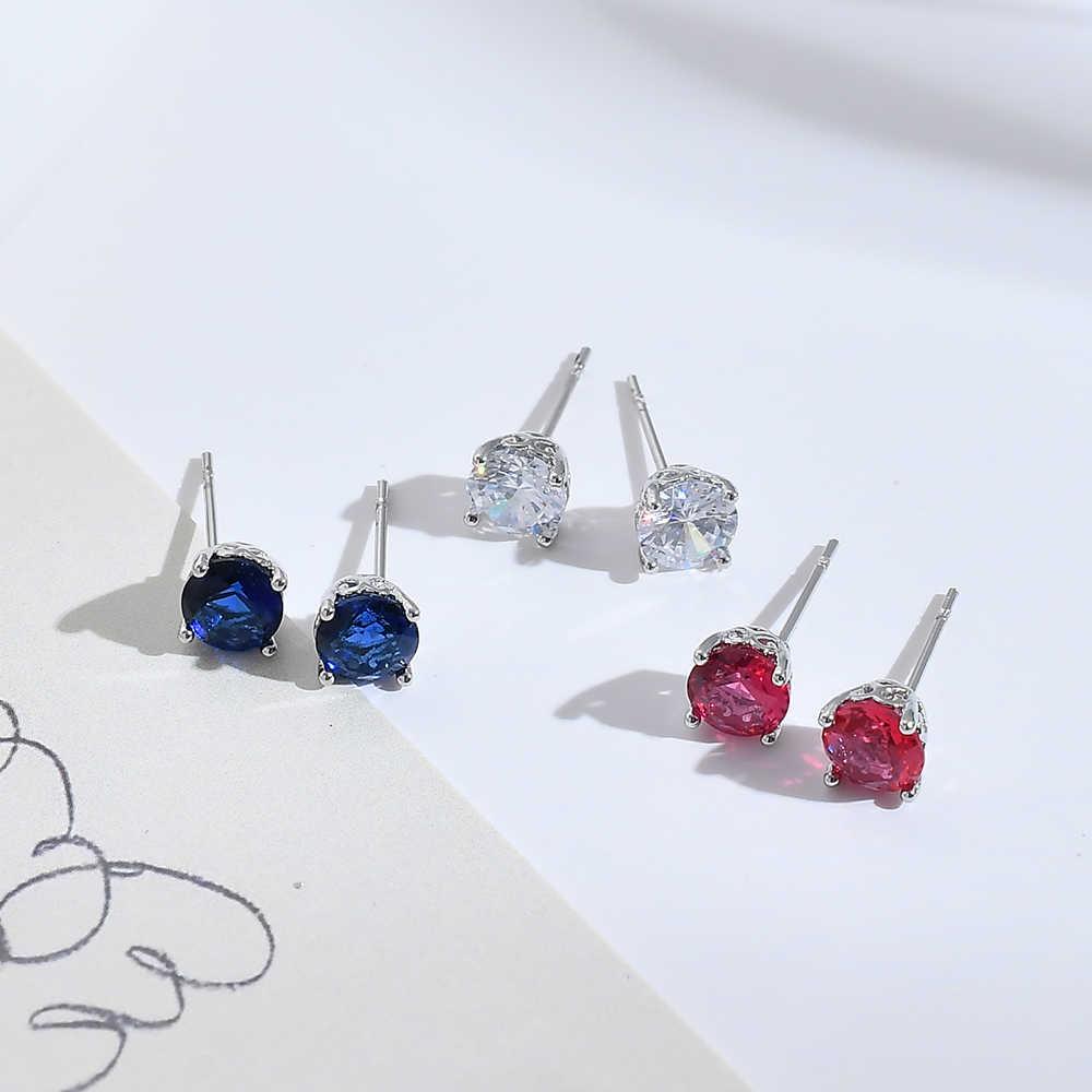 Crystal AAA Zircon Women EarringCuteRhinestone Gold Silver Stud Earring Hypoallergenic Pierced Ear Oorbellen Fashion Jewelry