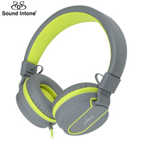 Sound Intone Stereo Lightweight Foldable Headphones Adjustable Headsets With Microphone 3 5mm For Smartphones Iphone Computer