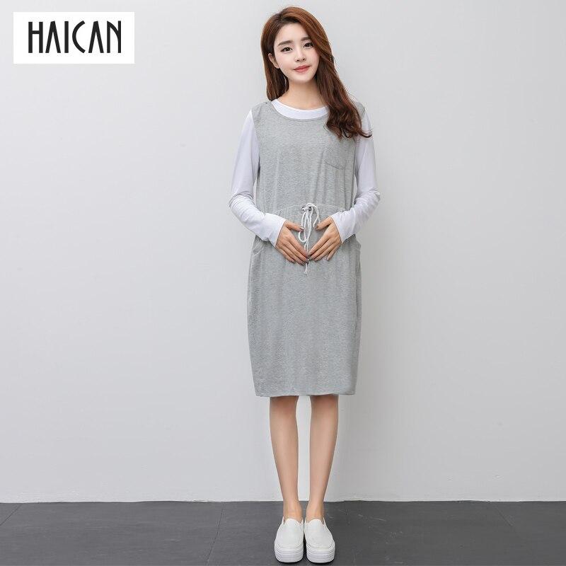 Haican платье с капюшоном Средства ухода за кожей для будущих мам Одежда для беременных Для женщин Карманы пуловер Блузка юбка с длинным рукав... ...