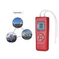 Professional Digital Dual port Manometer Handheld pressure gauge Differential Air Pressure Tester pressure measuring instruments