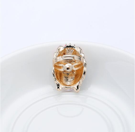Chinese style personality exquisite high quality Peking opera mask tao ma tan (a female warrior role) adjustable ring for female 3