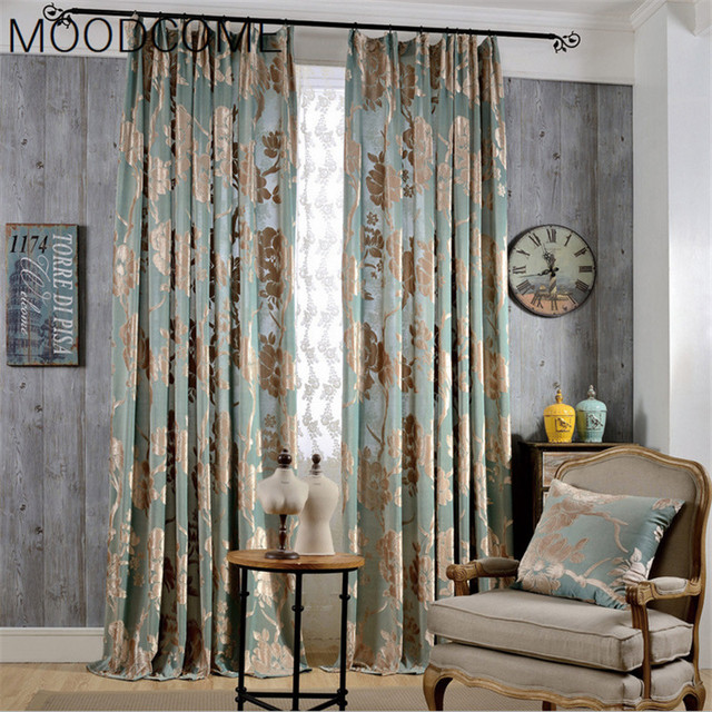 Anya New Fine Woven Jacquard Curtain Fabric Curtains For Living Dining Room Bedroom Blinds