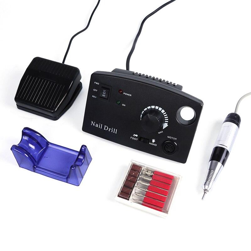 Электрический набор сверл для ногтей 30000 об./мин./маникюрные пилки для педикюра буровое оборудование для полировки ногтей резак инструмент ...