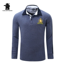 High quality men's long sleeve polo shirts designer fashion embroidery plus size casual polo shirts men pull homme CB23D051
