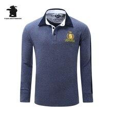 Hohe qualität herren langarm polo shirts designer mode stickerei plus größe casual polo shirts männer ziehen homme cb23d051