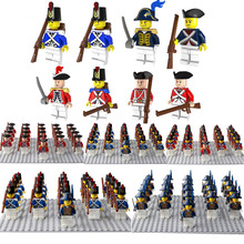 21pcs/lot Sea British Army Soldier Building Block Gun Weapons Toy LegoINGod Military MinifiguresINGLY Toys for Children