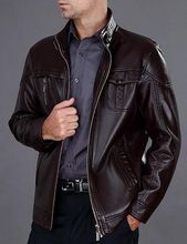 2016 New Leather Jacket Men Autumn And Winter Stand Collar Leather Clothing Casual Men s Clothing