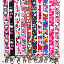 5d411a06d high quality 10pcs cartoon hello kitty key chains long lanyards id badge  holder Neck straps for mobile phone Party Gifts #153