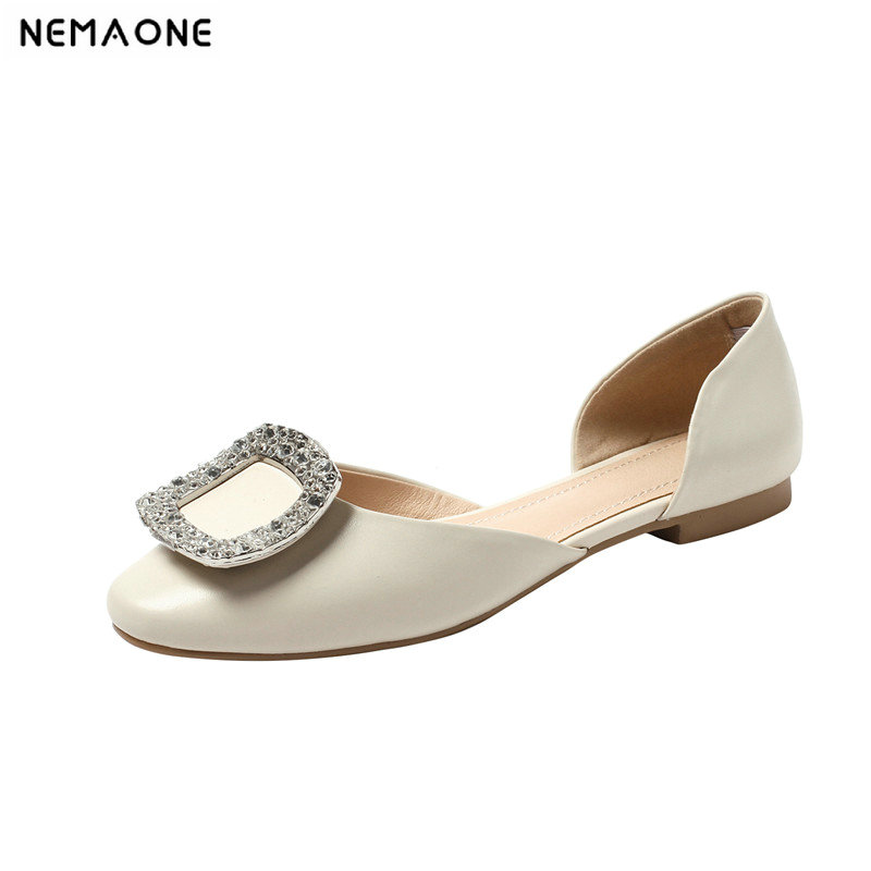 NEMAONE 2019 summer ladies Shoes Flats Women shoes Flat Heel rouned Toe Casual Slip Resistance Shallow