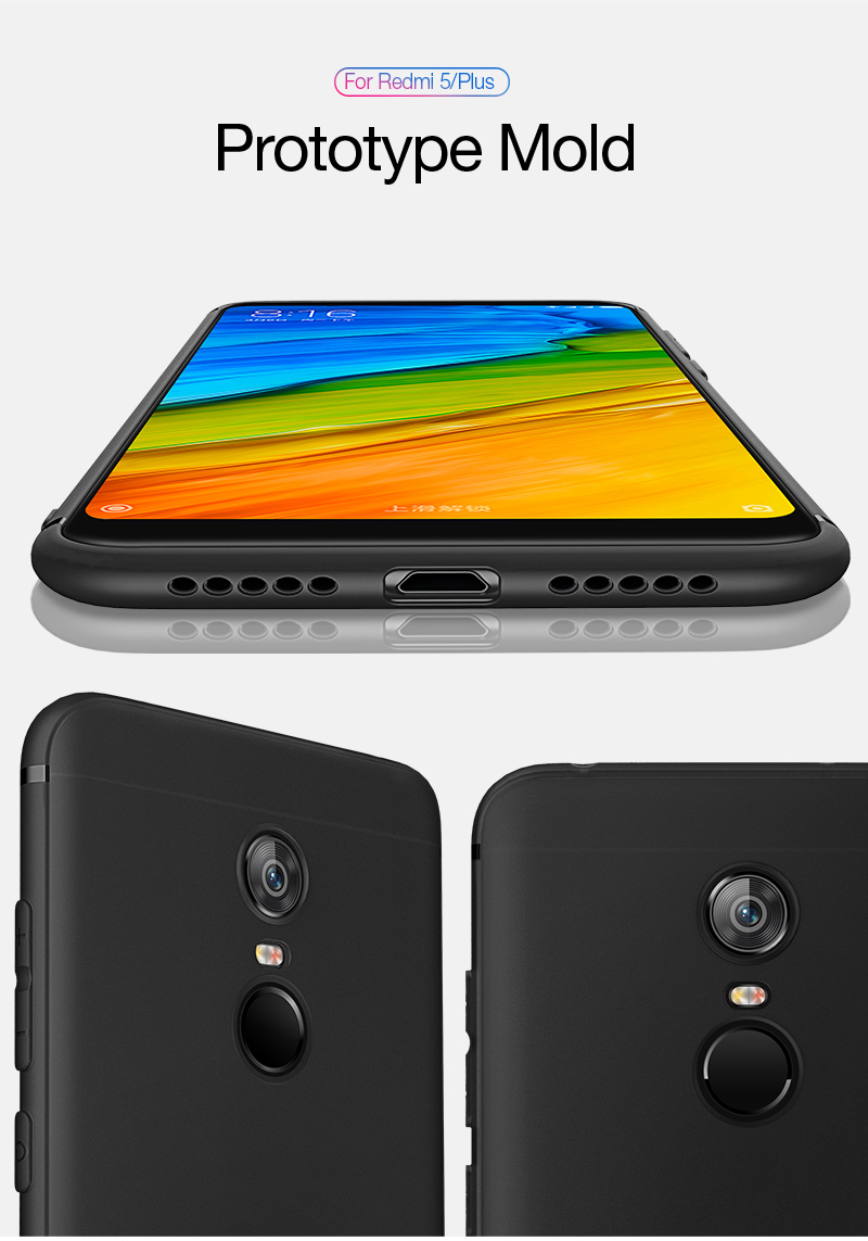 Cafele Original Case For Redmi 5 Plus Cases Candy Color Ultra Thin Tempered Glass Xiaomi Note