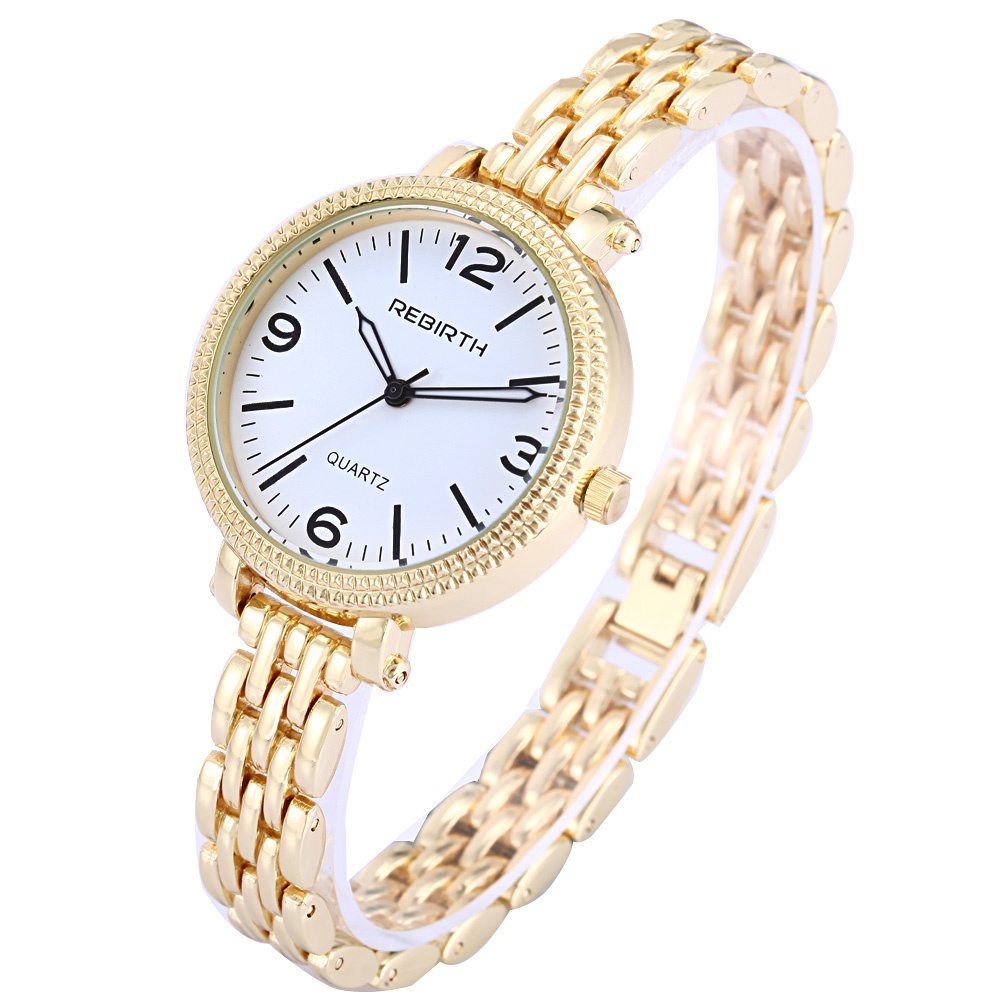 Top Luxury Brand REBIRTH Ladies Watch Gold Steel Bracelet Band Relogio Feminino Casual Table Women Quartz Watches Clock Gift