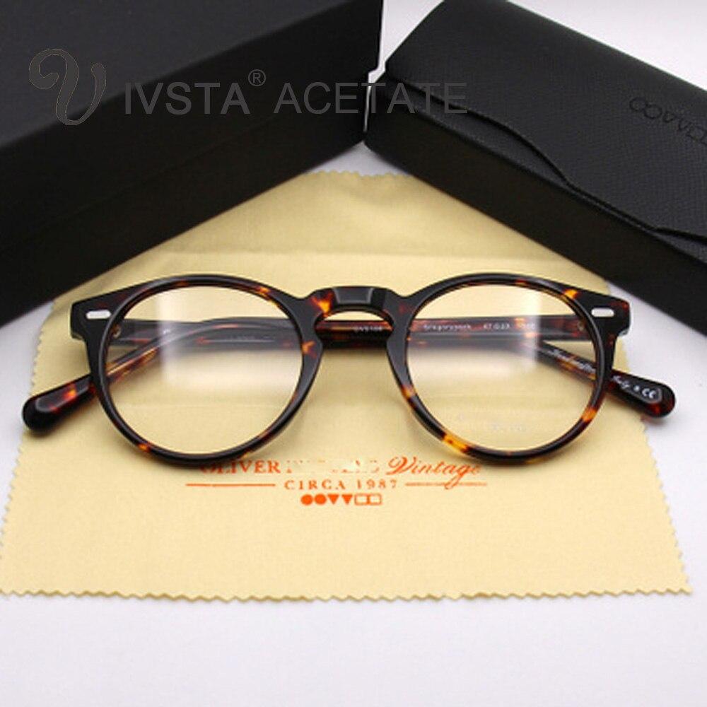 OV5186 Handmade Echt Acetat Rahmen Cat Eye Brillen Gregory Peck ...
