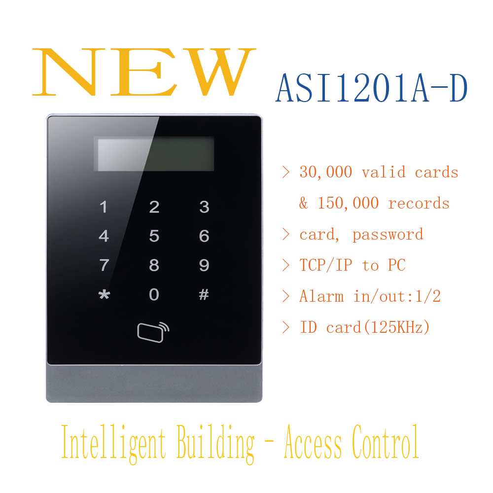 Free Shipping DAHUA RFID Standalone Support 30,000 valid cards & 150,000 records Without Logo ASI1201A-D