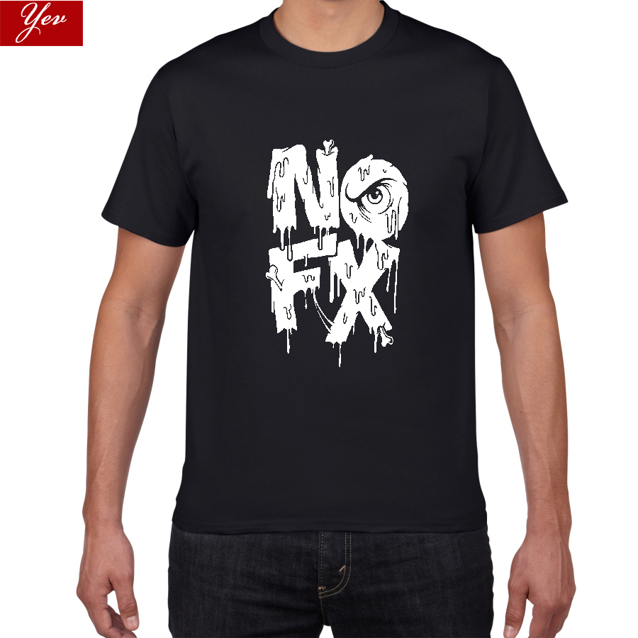 NOFX Alternative Pop/Rock Tshirt Men  Punk Revival Unisex Comfortable Breathable T-Shirt Men Punk-Pop 100%cotton Men's Streewear