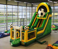 commercial inflatable slide jumping bouncer with inflatable slide combo