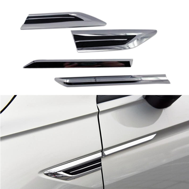 Fit for Volkswagen Tiguan Second Generation 2017 2018 2018 Door Side Air Vent Wing Fender Emblem Badge sticker Trim 2pcs