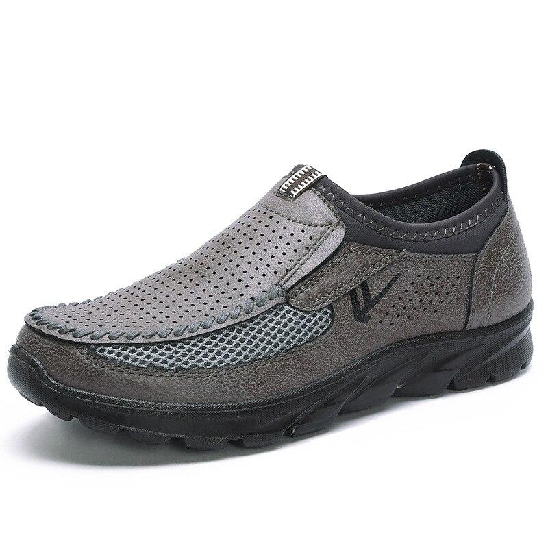HTB1NXtoP9zqK1RjSZFpq6ykSXXaw Luxury Brand Men Casual Shoes Lightweight Breathable Sneakers Male Walking Shoes Fashion Mesh Zapatillas Footwear Big Szie 38-48