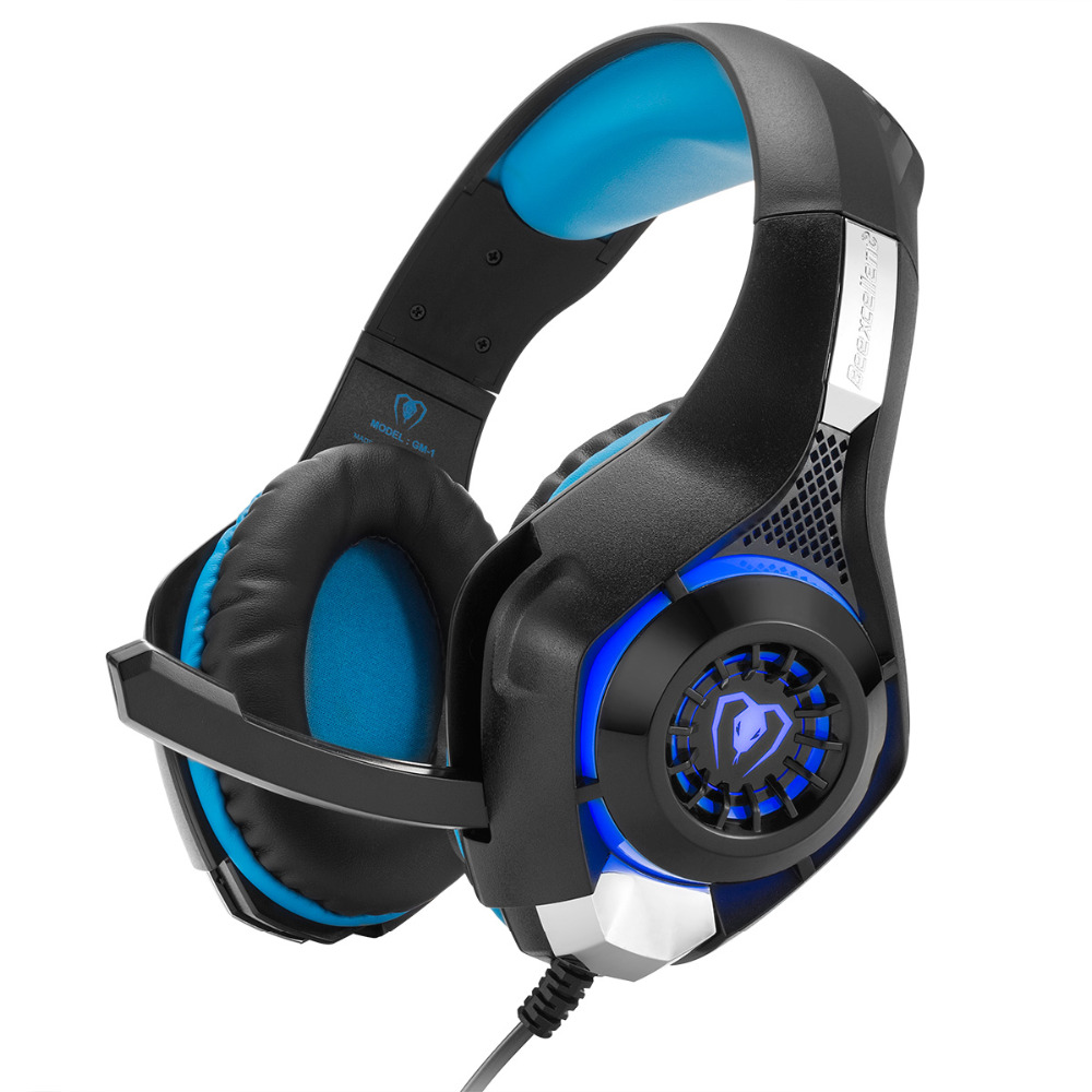 Gaming Headset Deep Bass Computer Game Headphones With Microphone LED Light Earphone For PS4 Tablet Laptop Smartphone PC Gamer original xiberia v2 led gaming headphones with microphone mic usb vibration deep bass stereo pc gamer headset gaming headset