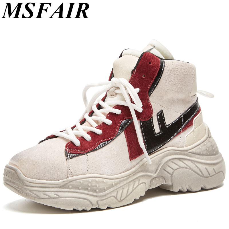 MSFAIR Winter Womens Flats Plus Size 35-42 Leather Shoes Woman Brand Spring Autumn Flat Platform Fashion Ladies Casual Shoes ym 2018 eu 35 40 spring autumn new fashion casual bow tie womens flat shoes woman shallow peas shoes ladies girls zapatos mujer