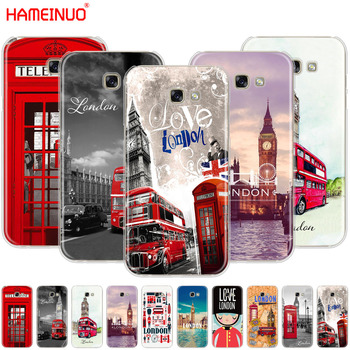 HAMEINUO London big ben Bus cell phone case cover for Samsung Galaxy A3 A310 A5 A510 A7 A8 A9 2016 2017 2018 telephony