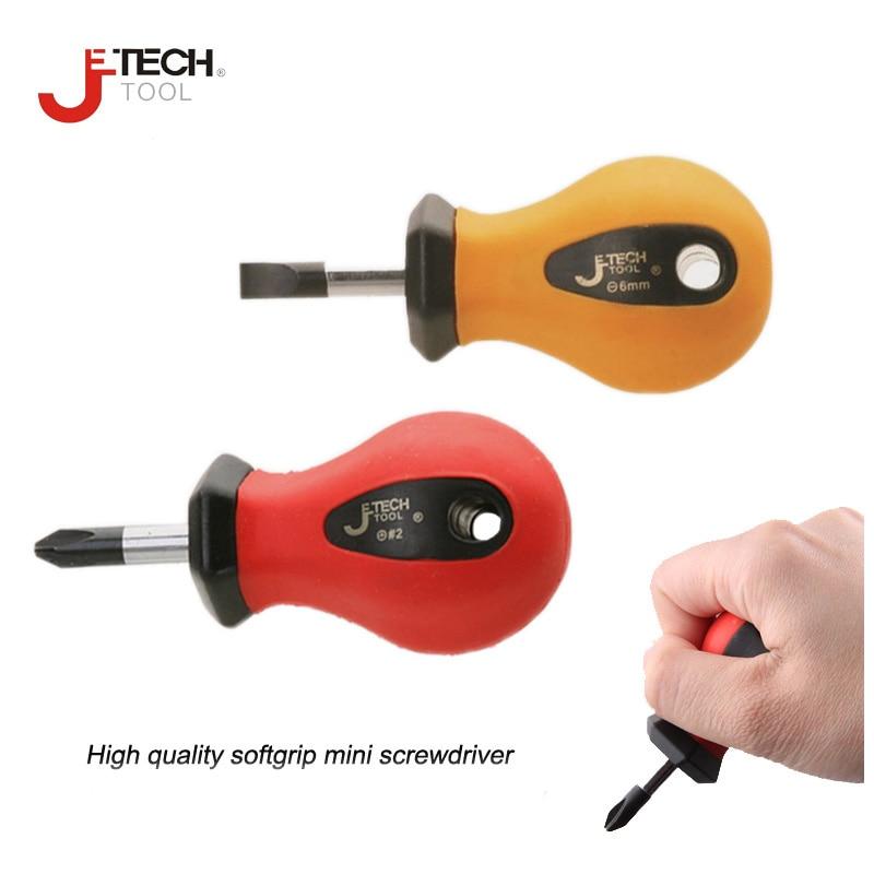 Jetech 2pcs / pack slotted 5 * 25mm 6 * 25mm plilips PH1 PH2 stubby - ابزار دست
