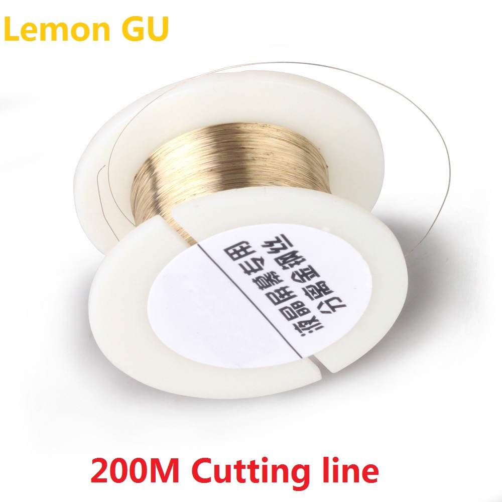 200M Golden Molybdenum Wire Cutting line For Iphone 4/4s/5/Samsung S4/S3 Glass LCD Screen Separator 100m 0 08mm alloy steel molybdenum wire cutting wire line lcd display screen separator repair for iphone p0 11
