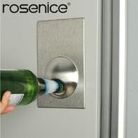 1Piece Stainless Steel Bottle Opener Fridge Magnetic Beer Opener Refrigerator Strong Magnet Bottle Openers