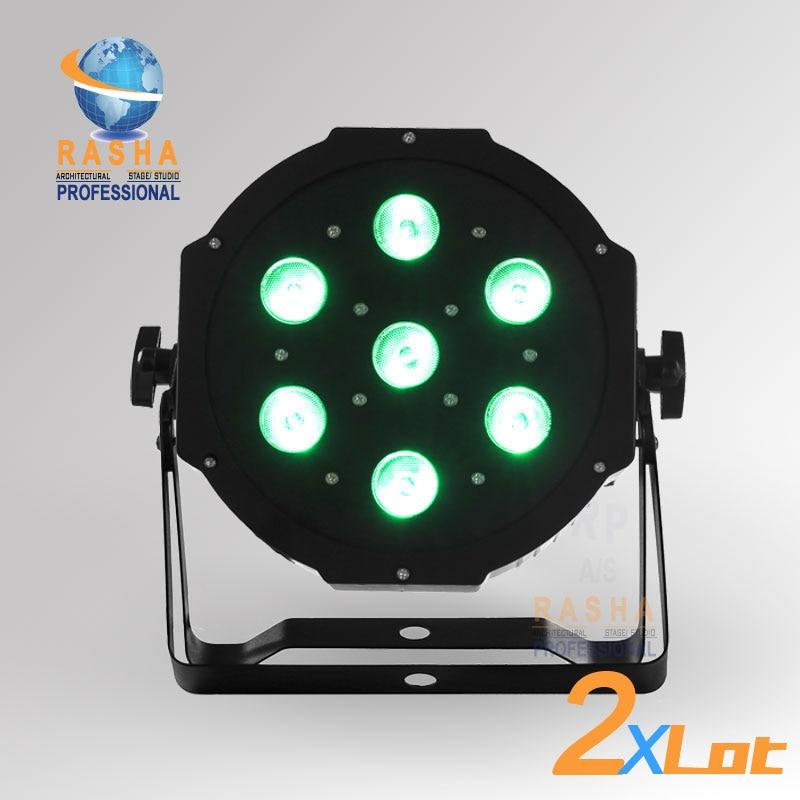 2XLOT HOT SALE 7pcs*12W Quad LEDs (4in1 RGBA/RGBW) LED Mega Quadpar Profile DMX Par Can RASHA LED PAR LIGHT STAGE LIGHT 4x lot freeshipping adj 7 12w 4in1 quad leds rgba rgbw mega quad led par profile dmx led par can american stage light