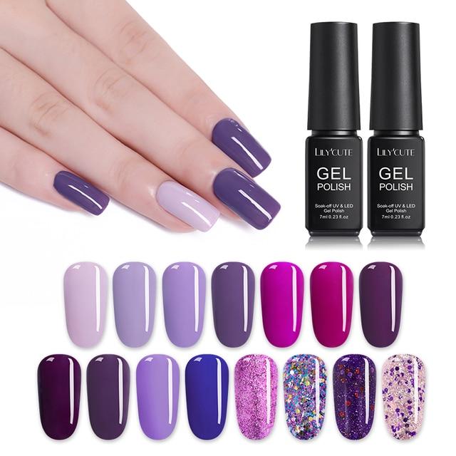 Vernis à ongles hybride LILYCUTE vernis à ongles Gel UV tout pour Semi-Permanent tremper 7ML vernis à ongles à Base de Gel