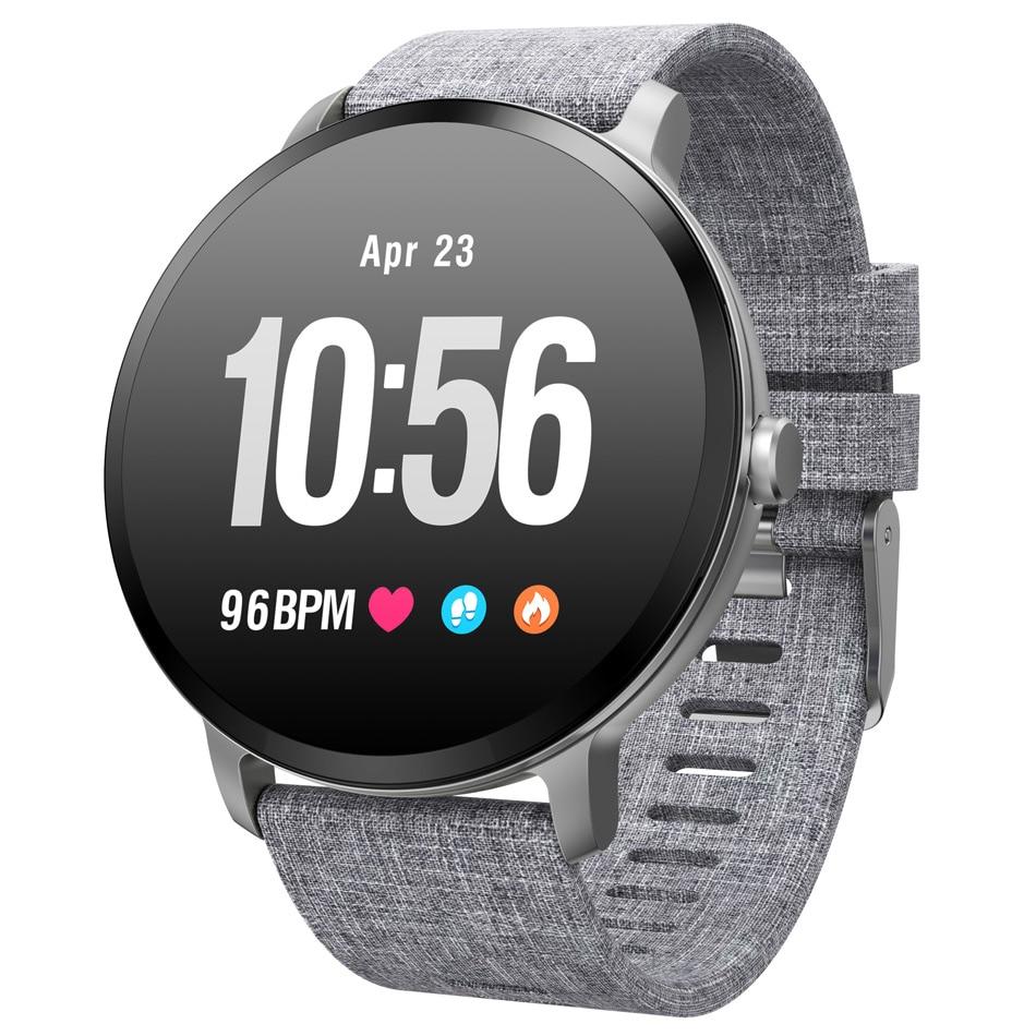 V11 montre intelligente hommes femmes IP67 étanche verre trempé activité Fitness Tracker moniteur de fréquence cardiaque bord Smartwatch Android IOS