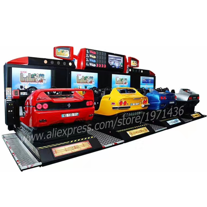 8 Players Competition Amusement Equipment Outrun2SP Coin Operated Video Arcade Machine Driving Simulator Car Racing Games image