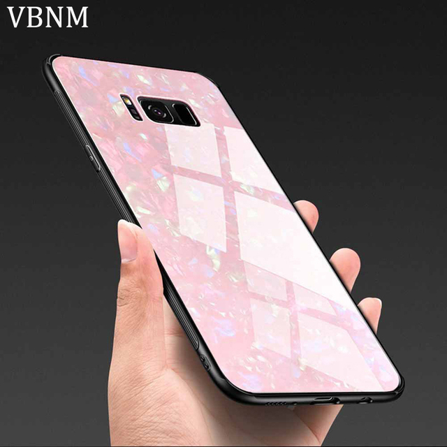 half off 829b0 24051 US $3.79 5% OFF|VBNM Luxury Tempered Glass Phone Case For Samsung Galaxy S8  S9 Case Marble Back Cover For Samsung S9 Plus S8 Plus Note 8 Case-in ...