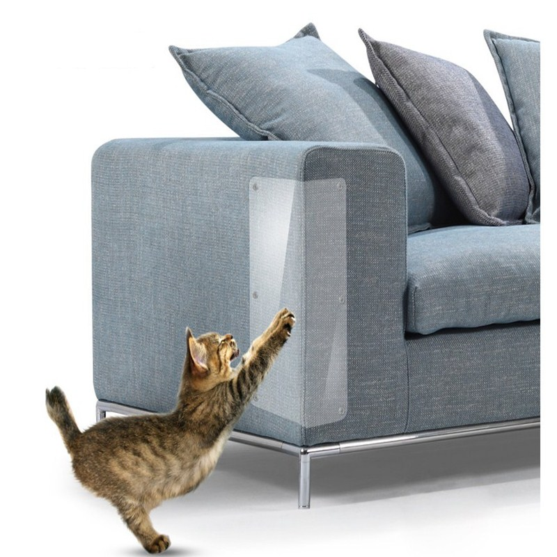 Couch-Protector Pet-Guard Furniture Cat Scratchers Pet-Supplies PVC 2pcs Adhesive