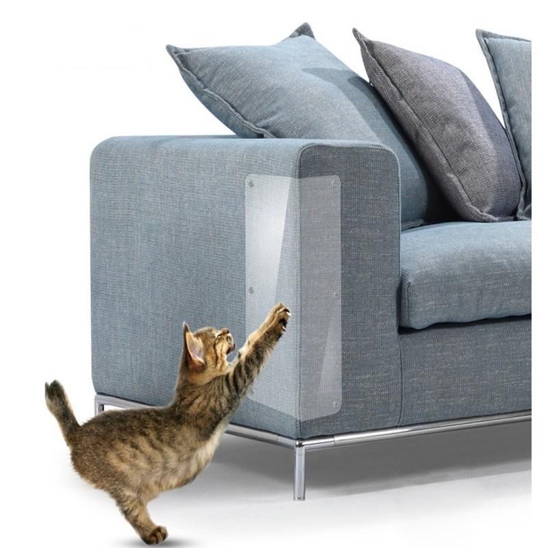 2Pcs Anti Scratch Pet Guard Cat Scratching Adhesive Corner Guard PVC Cat Scratchers Furniture  Protector Pet Supplies