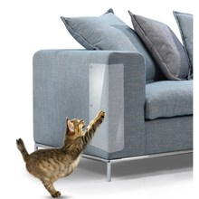 2 шт. Защита от царапин для домашних животных, клейкая защита для кошек, угловая защита для кошек из ПВХ, защита для мебели, товары для домашних животных